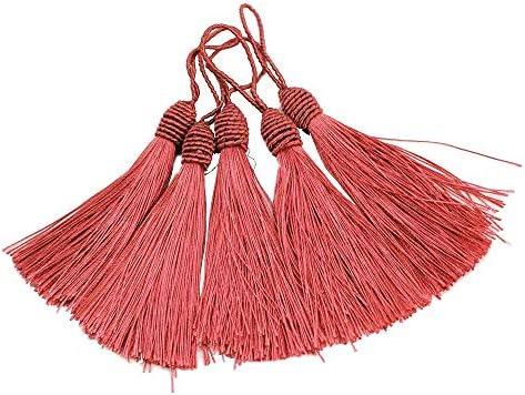 Silky Floss Bookmark Tassels Soft Tassel for Jewelry Making DIY Crafts Mixed RUBY 50Pcs Thread Tassels