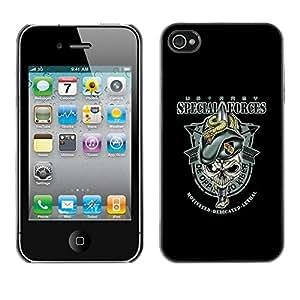 Be Good Phone Accessory // Dura Cáscara cubierta Protectora Caso Carcasa Funda de Protección para Apple Iphone 4 / 4S // US Army Special Forces