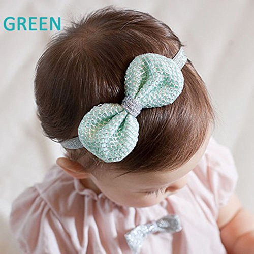 Remy Hair Weft 100g - Cute Kids Girls Elastic Lace Bowknot Hair Band Tinsel Headbands Exquisite Birthday Gift - Japanese Made Vintage Yellow Cowhide Girls Wall Free Hellens Braid Hair Claw