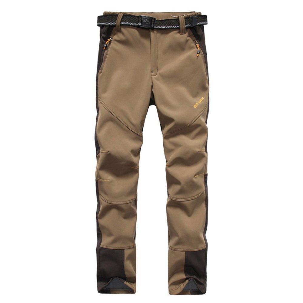TOFERN Ladies/Womens Winter Softshell Pants Thicken Fleece Warm Waterproof 10000mm Outdoor Hiking Climbing Trousers