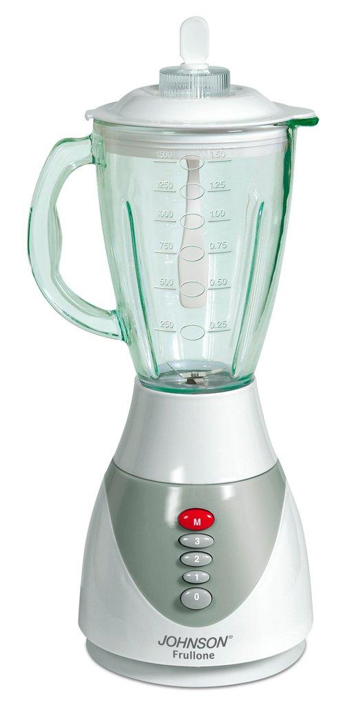 JOHNSON ELETTRODOMESTICI Frullone Batidora de vaso 1.5L 350W Gris, Color blanco - Licuadora (1,5 L, Batidora de vaso, Gris, Blanco, Acero inoxidable, ...