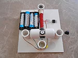 Simple electric motor kit on a hall effect ic for Simple toy motor project