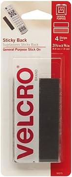 4 Inch by 4 Inch Black Pkg of 10 Sets Hook /& Loop Fastener Squares Sew-On