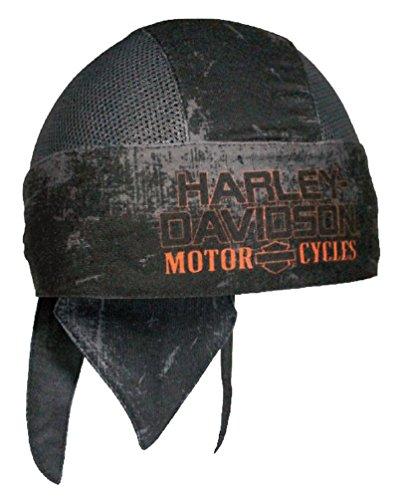 - Harley-Davidson Mens Charcoal Sublimated H-D Head Wrap, Distressed Black HW51681