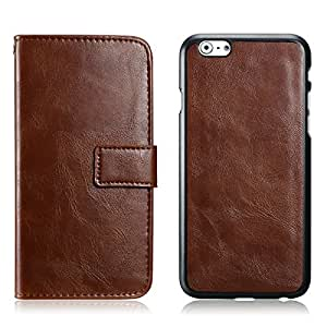 2 pcs/lot Flip PU Leather Case For iPhone 5 5g 5s Retro 2-in-1 Wallet Style Mobile Phone Bag Cover With Card Slots Drop Ship --- Color:rose