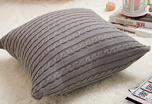 cottontex algodón Cojín decorativo de punto Cable Tejer ...