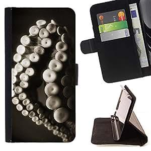 For HTC Desire 626 626w 626d 626g 626G dual sim Case , Monster Pulpo Vida marítima Animales- la tarjeta de Crédito Slots PU Funda de cuero Monedero caso cubierta de piel