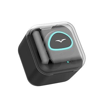 15m Bluetooth 4.1 para Auriculares Mini Auricular de Sonido de Alta fidelidad Intelligent Noise Reducción del Tiempo Largo Auricular inalámbrico de Trabajo ...