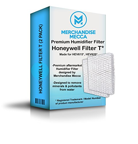 Merchandise Mecca Compatible Replacement for HFT600 Humidifier Compatible Filter, Filter T - Made for HEV615 and HEV620 Models (Two Filters)