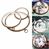 ARTISTORE 3 Pieces Embroidery Hoops Cross Stitch Hoop Embroidery Circle Set For Art Craft Handy Sewing