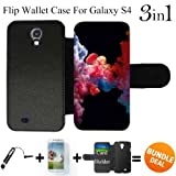 3in1 vape - Colorful Vape Smoke Custom Galaxy S4 Cases Flip Wallet Case,Bundle 3in1 Comes with Screen Protector/Universal Stylus Pen by innosub