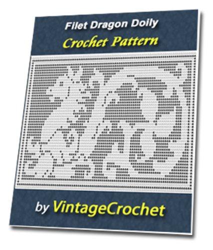 Filet Dragon Doily Vintage Crochet Pattern