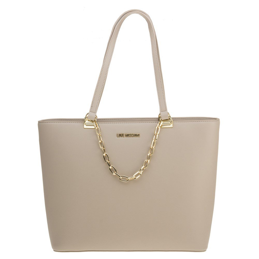Moschino Love Moschino Women's Chain Detail Tote Bag One Size Taupe