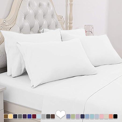 "Ultra Soft Cool Bedding ALL Size Egyptian Bed Sheets Set 6 PCS 14/"" Deep Pocket"