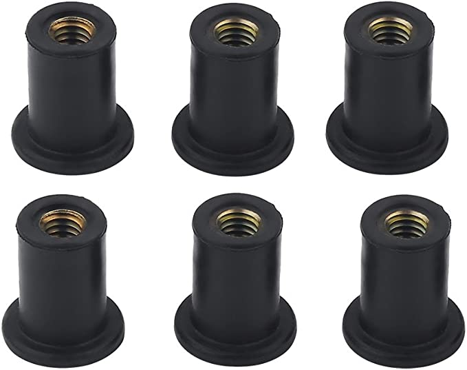 12pcs Rubber Well Nuts Mounting Kit Windshield Bolts Blind Fasteners for Kayak