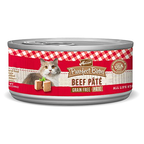 Merrick Purrfect Bistro Grain Free, 5.5 oz, Beef Pate - Pack