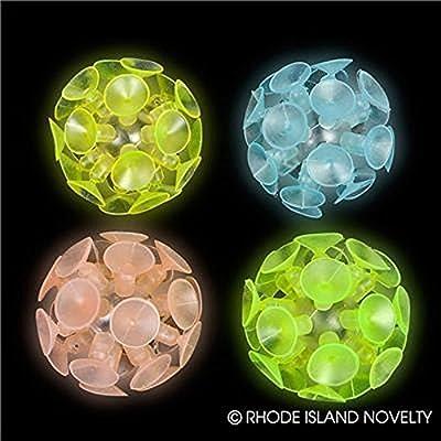 Dozen Suction Balls - 2 inch, Glow-in-the-Dark: Toys & Games [5Bkhe0700973]