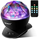 [Upgraded Version] SOAIY Soothing Aurora LED Night Light Projector with Timer, Remote, Music Speaker, 8 Lighting Modes, Relaxing Light Show, Mood Lamp for Baby Kids, Adults, Living Room,Bedroom