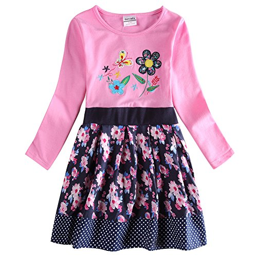 The Most Popular Girls In School Costume (Novatx Long Sleeve Cotton Baby Girl Dress H6241 Pink (2/3y))