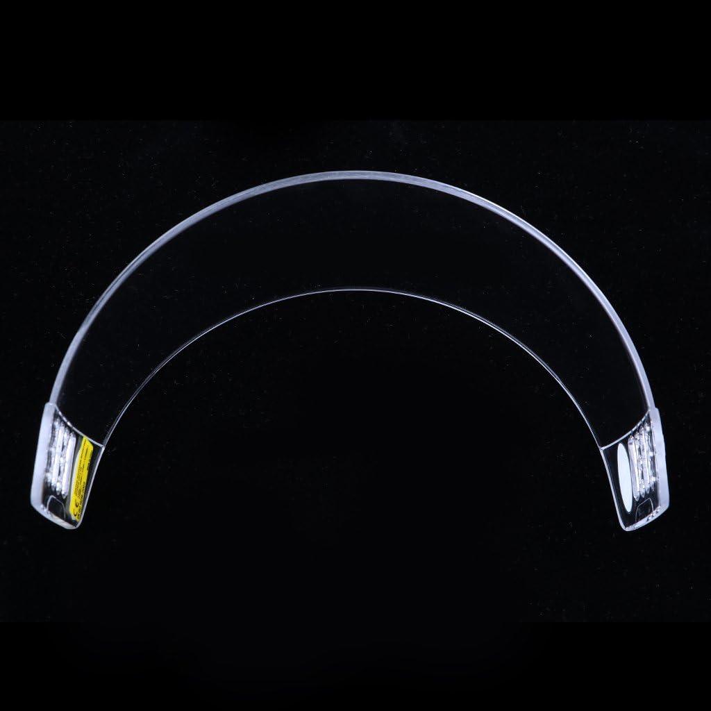 MagiDeal Hockey Visor Half Shield Pro Straight Cut Clear Senior Anti Fog /& Scratch With Hardware