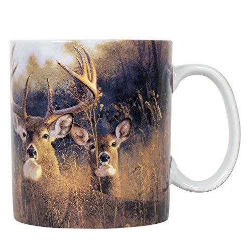 (Buck Stops Here 16 ounce Porcelain Stoneware Nature Scene Coffee Mug)