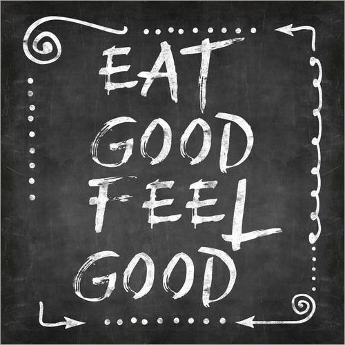 Posterlounge Acrylglasbild 13 x 13 cm: eat Good Feel Good von Andrea Haase - Wandbild, Acryl Glasbild, Druck auf Acryl Glas Bild