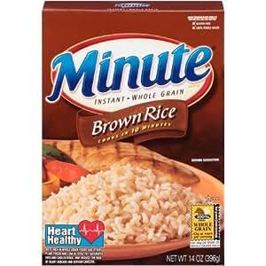 Amazon.com : Minute Instant Whole Grain, Brown Rice, 14 oz