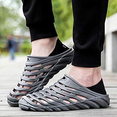 Fashion Mens Classic Clog Comfort Slip On Casual Hole Shoes Sandals SHIJUNWE