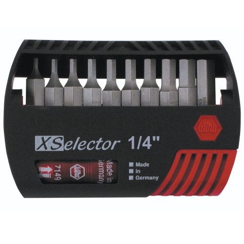 - Wiha 79446 X-Selector Bit Set with Hex Inch Bits and Quick Release Holder
