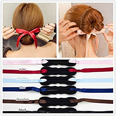 3Pieces Elegant Cloth Magic Clip French Twist Bum Makder Holder Roll Rings Donut Updo Chignon Former Pads Foam Sponge Hairstyling Curler Braid Ponytail Hair Style Styling Tool Party Hair Accessories