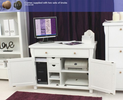 AGEN verstecktem Computer Schreibtisch weiß Möbel