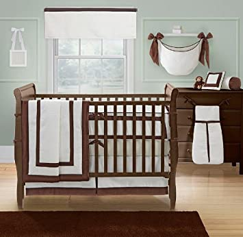 amazon com banana fish brooklyn white 4 piece crib bedding set baby