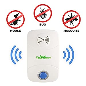 Ultrasonic Pest Repeller – Pack of 2 [2018 UPGRADED] Pest Control Electronic Plug-In-Repellent for Indoor and Outdoor Use – Fight Insects, Bug, Mice, Rats and More