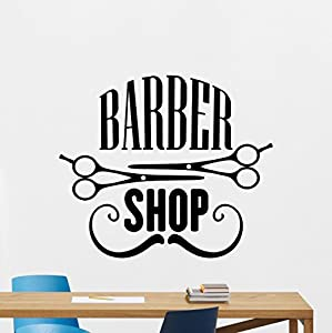 Barbershop Wall Decal Stylist Hairdressing Fashion Hair Salon - Custom vinyl wall decals for hair salonvinyl wall decal hair salon stylist hairdresser barber shop