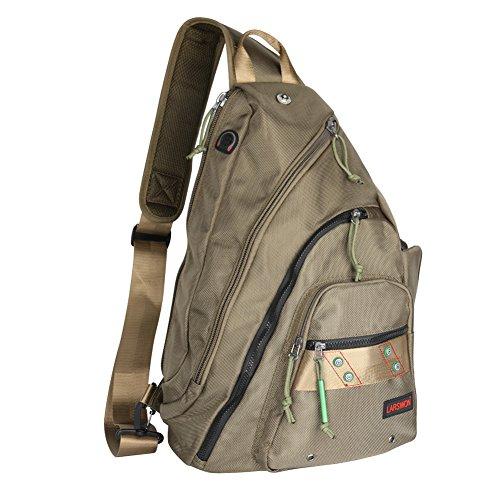 Larswon Sling Backpack, Sling Bag for Laptop, Crossbody Bag for Men, Shoulder Bag for Women, Laptop Backpack, Backpack Army Green ()