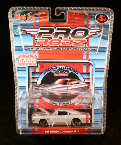 '69 DODGE CHARGER R/T * SILVER * Maisto Pro Rodz Pro-Touring Die-Cast Collection 1:64 Vehicle
