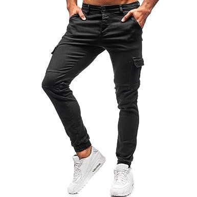 95sCloud Basic Slim Chino Pantalones de Chino para Hombre ...