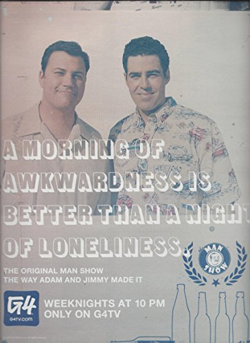 Promotional 2005 TV Show **PRINT AD** With Adam Carolla & Jimmy Kimmel For The Ma...