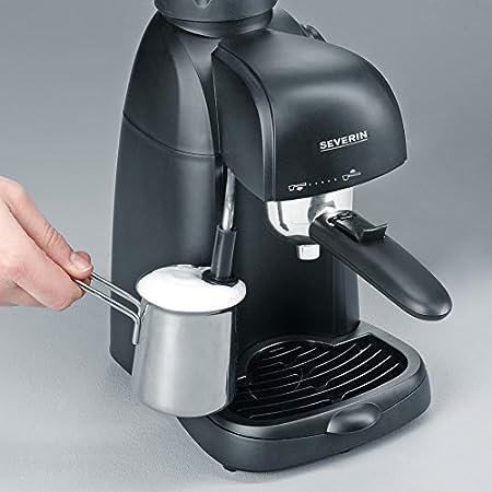 SEVERIN KA 5978 Cafetera Espresso, Incl. Jarra para Servir y Cuchara Dosificadora, hasta 4 Tazas, 800 W, 0.22 litros, Plástico, Negro: Amazon.es: Hogar