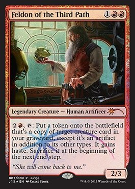 (Magic: the Gathering - Feldon of the Third Path (007/008) - Judge Promos - Foil)