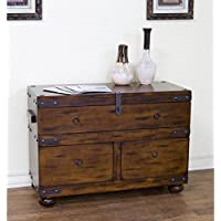 Sunny Designs Santa Fe Trunk Console Table in Dark Chocolate