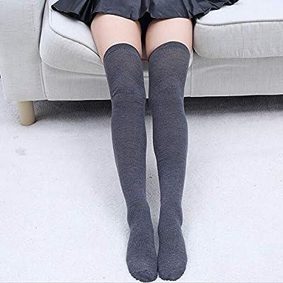 Z Wenquan Medias Moda Mujer Sexy Algodón de Punto sobre la Rodilla ...
