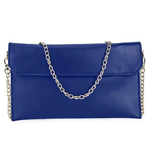Bolso de noche,Bolso de Mano Bolso de mujer elegante 2-en-1 Envelope Design Cartera del bolso Bolsa de boda de San Valentín-Azul Azul