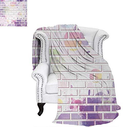Digital Printing Blanket Vector Illustration of Graffiti Brick Wall Pattern Design Street Artwork Summer Quilt Comforter 70
