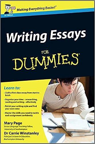 Amazon com  Writing Essays For Dummies                  Mary Page     Amazon com