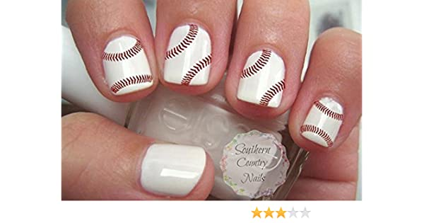 Amazon 40 Sports Baseball Nail Art Designs Decals Beauty