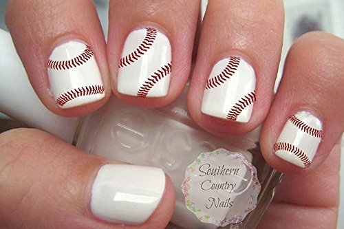 - Amazon.com : 40 Sports Baseball Nail Art Designs Decals : Beauty