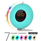 Sunrise Alarm Clock - Joyful Heart Best Wake Up Light with 7 colors Changing, FM Radio, Touch Contral, Snooze Function and Sunrise Simulator Alarm Clock for Bedside, Adults and Kids