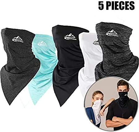 TIMIVO 3 Packs Kids UV Protection Face Cover Neck Gaiter for Hot Summer Cycling Hiking Sport Outdoor