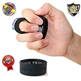 Bundle- Streetwise Sting Ring 18 Million Stun Gun (Black) & FREE Bonus Inspirational Bracelet